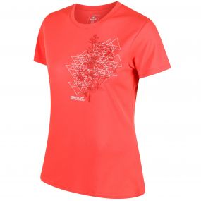 Women's Fingal III Quick Dry T-Shirt Neon Peach