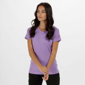 Women's Virda II Quick Dry T-Shirt Paisly Purple