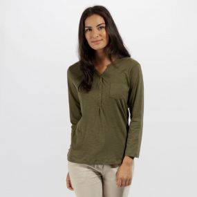 Franzea Coolweave Cotton T-Shirt Ivy Green