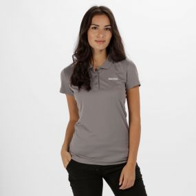Women's Maverick IV Polo Shirt Rock Grey