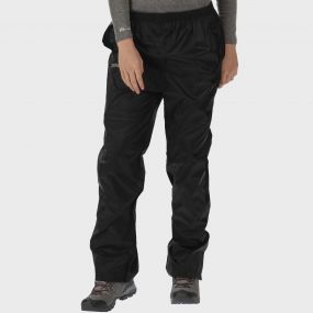 Women's Pack It Breathable Waterproof Packaway Overtrousers Black