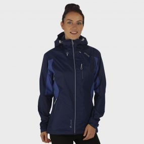 Women's Cross Penine III Hybrid Waterproof Shell Jacket Navy Deep Ultramarine
