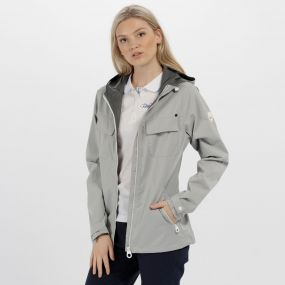 Jakeisha Waterproof Shell Jacket Light Steel