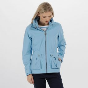 Nardia II Lightweight Waterproof Jacket with Concealed Hood Hydrangea