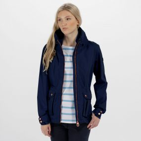 Nardia II Lightweight Waterproof Jacket Navy