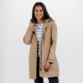 Gracelynn Long Length Lightweight Waterproof Jacket Toffee