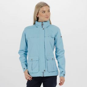 Landelina Lightweight Waterproof Jacket Hydrangea Blue