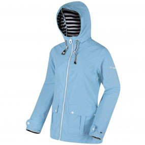 Bayeur II Lightweight Waterproof Hooded Jacket Hydrangea Blue