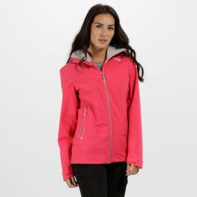 Women's Oklahoma III Reflective Waterproof Jacket Bright Blush
