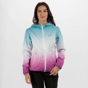 Leera II Ombre Waterproof Shell Jacket Aqua