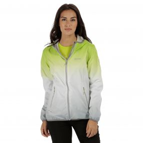 Leera II Ombre Waterproof Shell Jacket Lime Zest