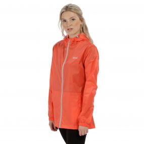 Women's Pack-It Jacket III Waterpoof Packaway Neon Peach