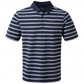 Geraldton Short-Sleeved Polo Blue Navy Stripe