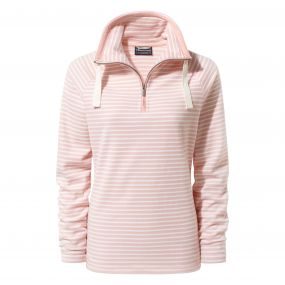 Rhonda Half-Zip Fleece Blossom Pink Stripe