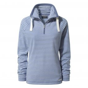 Rhonda Half-Zip Fleece China Blue Stripe