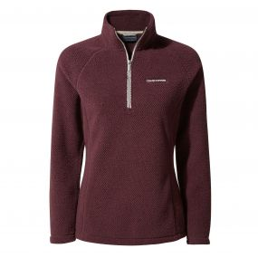 Moira Half-Zip Fleece Dark Rioja Red