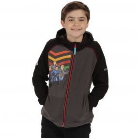 Thunderbirds Are Go Kids Hyperspeed Hooded Fleece Seal Grey