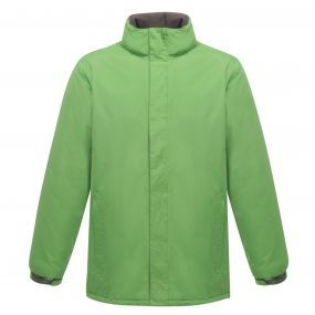 Womens Aledo Waterproof Insulated Jacket Extreme Green Seal Grey