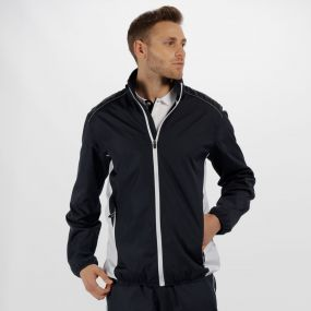 Men's Athens Tracksuit Jacket Navy/White
