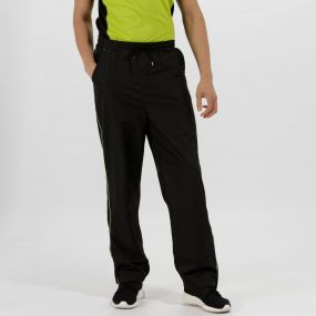 Men's Athens Tracksuit Bottoms Black Lime Zest