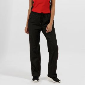 Women's Athens Tracksuit Bottoms Black Classic Red