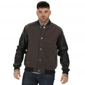 Originals Cornerhouse Wool Effect Bomber Jacket Ash Grey Black