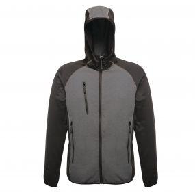 Lumen Reflective Stretch Softshell Seal Grey Black