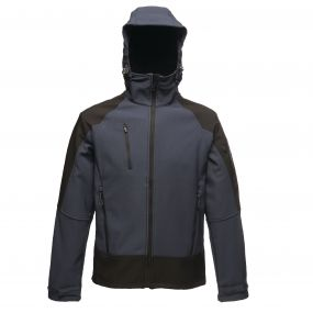 Powergrid 3 Layer Hooded Softshell Navy Black