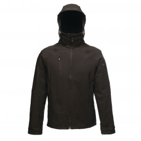 Powergrid 3 Layer Hooded Softshell Black Black