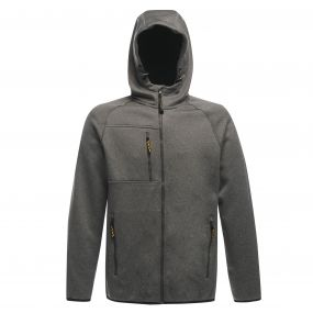 Marx Hoody Premium Softshell Seal Grey