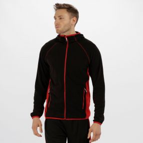 Men's Seoul Lightweight Sport Fleece Black Classic Red