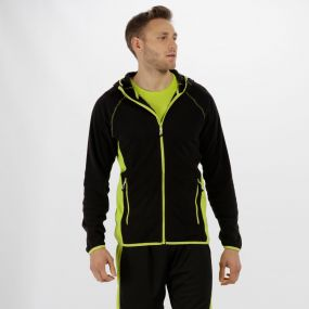 Men's Seoul Lightweight Sport Fleece Black Lime Zest