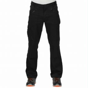 Cullman Multi Zip Trousers Black