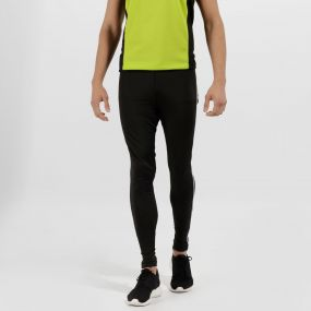 Men's Innsbruck Reflective Stretch Leggings Black