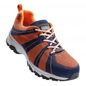 Rapide Knit Steel Toe Cap Safety Trainer Navy Orange