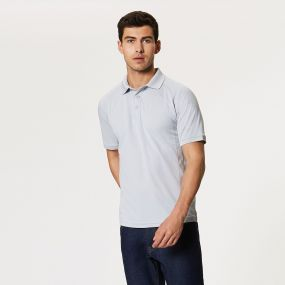 Coolweave Wicking Polo Silver Grey