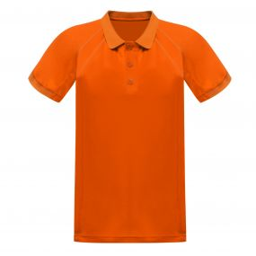 Coolweave Polo Shirt Sun Orange