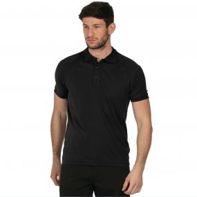 Coolweave Polo Shirt Black