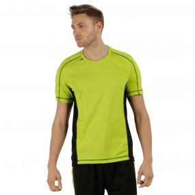 Men's Beijing Lightweight Cool and Dry Sports T-Shirt Lime Zest Black