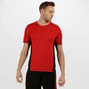 Men's Beijing Lightweight Cool and Dry Sports T-Shirt Classic Red Black