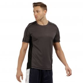 Men's Beijing Lightweight Cool and Dry Sports T-Shirt Iron/Black