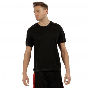 Men's Beijing Lightweight Cool and Dry Sports T-Shirt Black