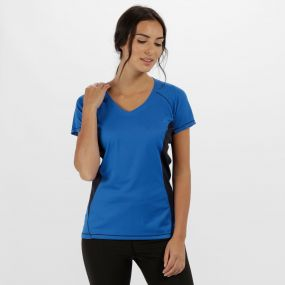 Women's Beijing Lightweight Cool and Dry Sports T-Shirt Oxford Blue Navy