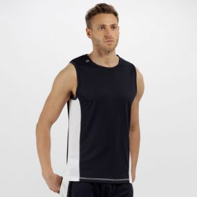 Men's Rio Lightweight Cool and Dry Sports Vest Navy/White