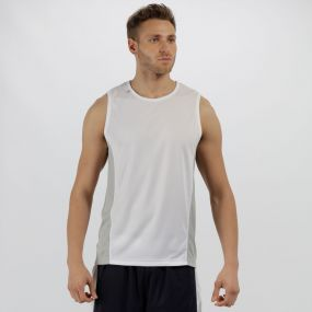 Men's Rio Lightweight Cool and Dry Sports Vest White Light Steel