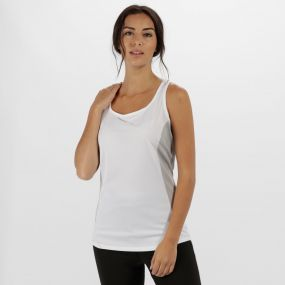 Women's Rio Lightweight Cool and Dry Sports Vest White Light Steel