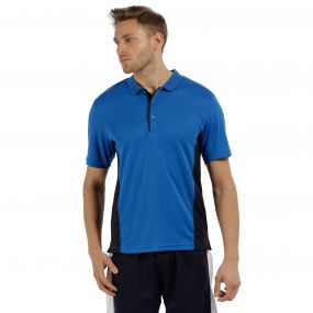 Men's Salt Lake Light and Dry Sports Polo Shirt Oxford Blue