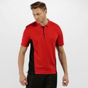 Men's Salt Lake Light and Dry Sports Polo Shirt Classic Red