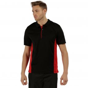 Men's Salt Lake Light and Dry Sports Polo Shirt Black