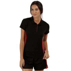 Women's Salt Lake Light and Dry Sports Polo Shirt Black